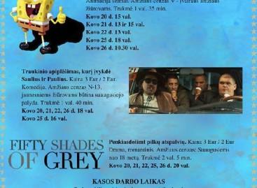 Varėnos kultūros centro kino salėje rodome