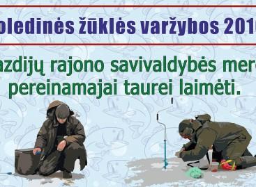 Poledinės žūklės varžybos 2016 Lazdijų rajono savivaldybės mero pereinamajai taurei laimėti