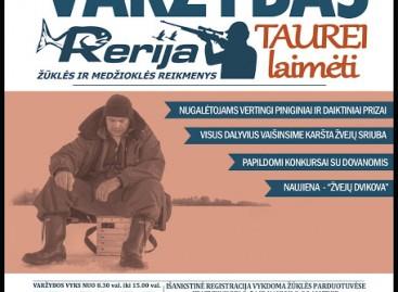 """Poledinės žūklės varžybos UAB """"RERIJA"""" taurei laimėti 2016"""