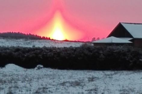 Žemaitijoje nufotografavo didelių šalčių pranašą